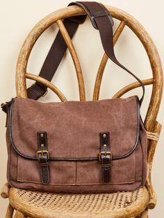 bb2c7e70c Brown Canvas Messenger Bag with Leather. #earthboundtrading Canvas Messenger  Bag, Brown Canvas,