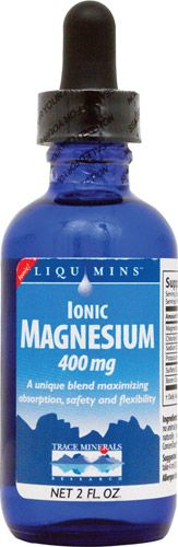 Trace Minerals Research Ionic Magnesium -- 400 mg - 2 fl oz - VitacostA unique blend maximizing absorption, safety and flexibility.   Ionic Magnesium is a rich, concentrated liquid dietary supplement that provides magnesium in an ionic form - the form most widely recognized by the body.  Our proprietary process ensures maximum absorption, while the balanced liquid form provides safety and flexibility.  Magnesium is required for cellular energy production. It participates in over 300…