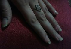 Look at the ring hands n nail so perfect...made for each other!!