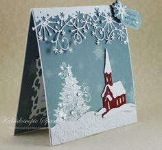 Kaleidoscopic Sparkles: Warm Winter Wishes 3d Christmas, Christmas Scenes, Christmas Cards To Make, Xmas Cards, Handmade Christmas, Holiday Cards, Memory Box Cards, Karten Diy, Cricut Cards