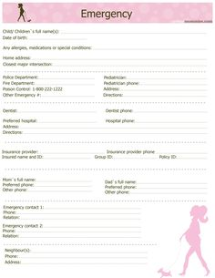 Travel Itinerary With Emergency Contact List  Template Sample