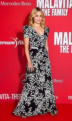 Dianna Agron wearing Carolina Herrera Resort 2014 gown, Malavita - The Family Berlin premiere October 15 2013