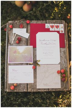 Apple orchard inspired #wedding invitation suite and paper goods by Frills paper + goods. Image by Nessa K Photography.