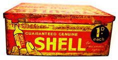 Old tin box - Shell Petroleum