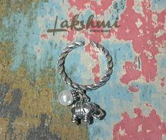 anel de prata com pingentes indianos, bohostyle, silver ring, elephant silver, jhumka (1)