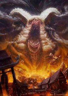 "scifi-fantasy-horror: "" Inside men by Gaétan WELTZER "" Dark Fantasy Art, Fantasy Artwork, Monster Concept Art, Fantasy Monster, Monster Art, Dark Creatures, Fantasy Creatures, Creature Concept Art, Creature Design"