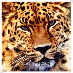 Aliexpress.com : Buy Leopard Art  24X24 inches Painting Home Decoration Oil painting Wall Pictures for living room Home Decor paints Wall art paint from Reliable paintings pictures suppliers on Eazilife Oil Painting  | Alibaba Group