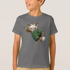 Shop Shifu Ready T-Shirt created by kungfupanda. Kung Fu Panda, Cartoon T Shirts, Badger, Types Of Shirts, Shirt Style, Baby Kids, Fitness Models, Onesies, Shirt Designs