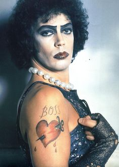 Sweet transvestite. Tim Curry in Rocky Horror Picture Show