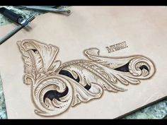 Leather Carving Tutorial - Viking Style - YouTube