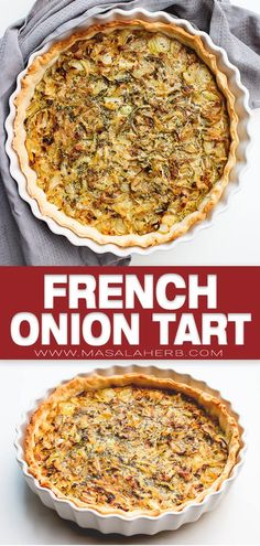 A piece of french savory Tart delight, an Onion Tarte recipe to blow your mind or rather your taste buds? Meals Under 200 Calories, Low Calorie Dinners, Low Calorie Recipes, Low Calories, Quiche Recipes, Tart Recipes, Cooking Recipes, Budget Cooking, Vegetarian Cooking