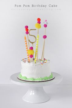 Adorable store bought Pom Pom Birthday Cake, Delineate Your Dwelling
