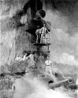 lieutenant j.c. gilmore of 1898 | Commodore George Dewey directing the battle from on board USS Olympia ...