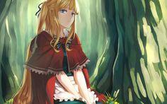 Znalezione obrazy dla zapytania czerwony kapturek anime