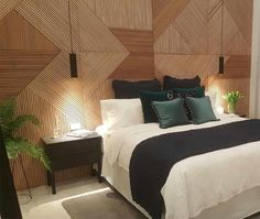 As seen in Will & Karlie's Master Bedroom in The Block 2016. Outstanding Timber Feature Wall FULLY HAND MADE Price is per square metre depending on room size can be made to suit