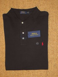 POLO RALPH LAUREN MEN'S  3XB  POLO  SHIRT  BLACK  MESH  BIG & TALL CLASSIC FIT   #PoloRalphLauren #PoloRugby