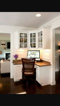 Office Nook In A Kitchen Corner Traditional Home Office By Mary Prince