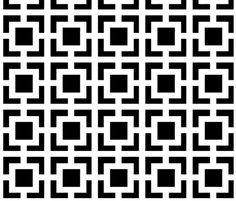 Moroccan Square in Black and White fabric by fridabarlow on Spoonflower - custom fabric refrigerator