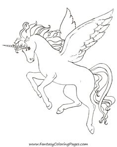 free-coloring-pages-pegasus-and-unicorns