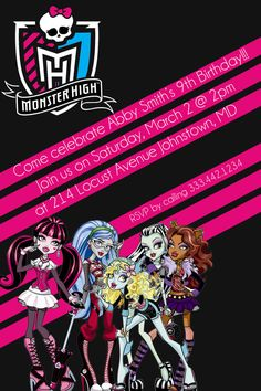 Monster High Party Invite (Printable)