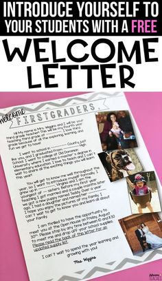 Do you send your students a welcome meet the teacher letter over the summer before back to school? Check out this free and editable letter to introduce you to your students at any grade level. Back To School Night, Welcome Back To School, Back To School Teacher, 1st Day Of School, Beginning Of The School Year, School Classroom, Classroom Ideas, Future Classroom, School Stuff