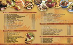 the 9 best food menu card images on pinterest restaurant menu card