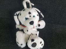 KIDS II DALMATIAN BLACK WHITE SPOT PUPPY DOG MUSICAL CRIB PULL TOY RED Bandana