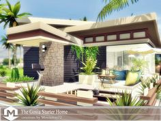 A comfortable cheap but beautifully decorated starter house for any sim on a budget.This small modern home may look tiny, but spacious enough for a beginner family. Low maintenance landscaping and...