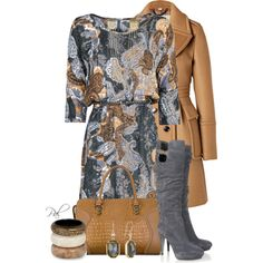 Dress and Boots, created by pamlcs on Polyvore