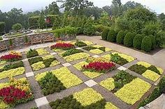 Blue Ridge Quilt Garden at the North Carolina Arboretum -- a different season, so a different quilt. (See http://pinterest.com/pin/175218241723036251/ )