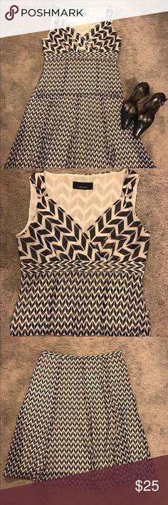 chevron print skirt set cute little happy hour outfit, navy blue and white chevron pattern Jones Wear Skirts Skirt Sets