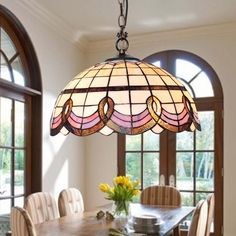 BYB Autique Country Tiffany Style Pendant Ceiling Lamp Chandelier Lights Glass