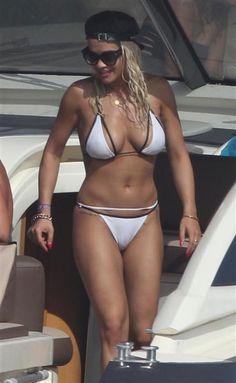 Rita Ora's bikini bod was on full display as she went boating in Formentera…