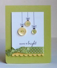 Button Christmas | http://cutegreetingcards295.blogspot.com