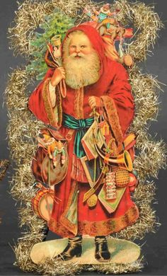 Christmas Images, Christmas Art, Vintage Christmas, Christmas Decorations, Xmas, Brown Paper Packages, Vintage Santas, Christmas Inspiration, Holiday Parties