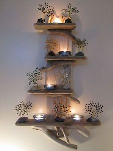Quirky-Unique-Driftwood-Shelves-Solid-Rustic-Shabby-Chic-Nautical-Artwork
