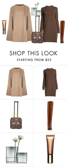 """""""Untitled #3018"""" by doinacrazy ❤ liked on Polyvore featuring Ted Baker, Adrienne Vittadini, Stuart Weitzman, iittala and Clarins"""