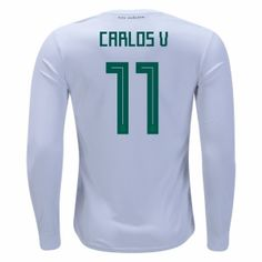 45eb9b0e089 2018 Mexico Carlos World Cup LS Away Jersey 2018 Mexico Carlos World Cup LS  Away Jersey