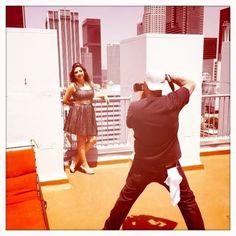 Downtown Los Angeles Photo Shoot #makeupartist #gettingready #pinup #efelixstudios #eileenfelix #downtownshoot #downtown #makeup #art #photos #JohnnyGramercy #rooftop #downtownLAroof #skyline #heels