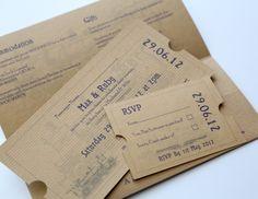 train ticket wedding invitations | ... Orient Express Train Purple & Silver Travel Ticket Wedding Invitation