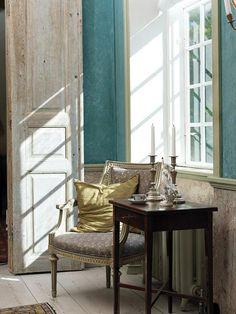 I'm lovin' this color of blue!     DESDE MY VENTANA: Para los amantes del Estilo Gustaviano / For the Swedish Antiques Lovers