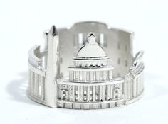 Check out Washington DC Cityscape - Skyline Ring by shekhtwoman on Shapeways and discover more 3D printed products in Rings.