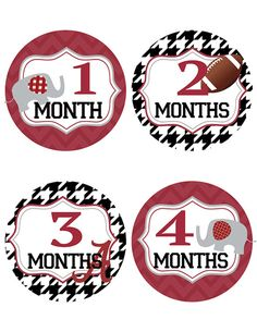 If you love the University of Alabama, youll LOVE these baby milestone stickers. Show your Crimson Tide pride every month as you watch your baby
