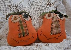 Primitive Silly Punkins Ornies or Tucks by ButtonsInTheAttic, $18.00