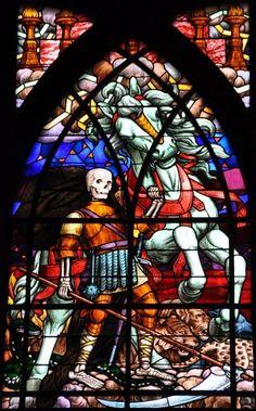 Vitrail - Le quatrième cavalier de l'Apocalypse - église Saint-Jean-de-Montmartre (1834-1915)