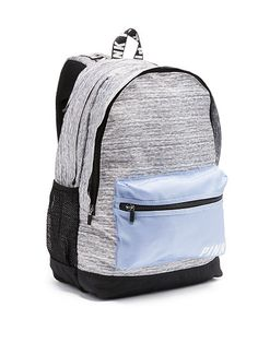 online shopping for Victoria's Secret Pink Campus Backpack- Grey Marl/ Morning Star from top store. See new offer for Victoria's Secret Pink Campus Backpack- Grey Marl/ Morning Star Vs Pink Backpack, Backpack For Teens, Men's Backpack, Cute Backpacks For School, Teen Backpacks, Casual Backpacks, Leather Backpacks, Leather Bags, Marca Pink