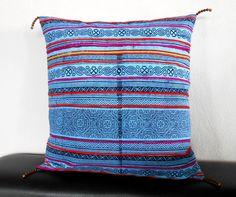 Candle Pillow Cushion 'Tribal culture' Handmade, Pillow Cover, Pillowcase handmade by HMONG. (PL1009)