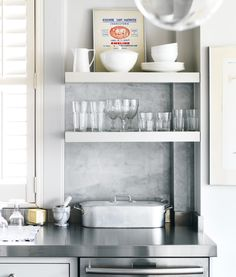 Open shelving means everything is readily accessible. {Photography by Donna Griffith}