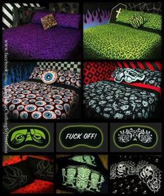 OMFG love love love these bed sets http://hells-blankets.myshopify.com/