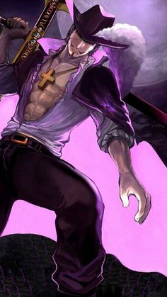Mihawk One Piece Manga Anime One Piece, One Piece Fanart, Fanarts Anime, Anime Characters, One Piece Seasons, Es Der Clown, One Piece Drawing, Fantasy Art Men, The Pirate King